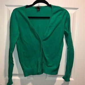 Green loose cardigan
